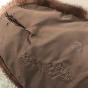 Vintage Jackets & Coats - VTG MINK CAPELET FUR STOLL WITH BUTTON & C…